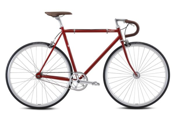feather red 1 600x391 - Велосипед Fuji 2021 LIFESTYLE мод. Feather USA Cr-Mo Reynolds 520 р. 56 цвет красный