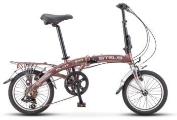 "370 korichnevyy khrom 350x237 - Велосипед Стелс (Stels) Pilot-370 16"" V010, Алюминий  , р. 10,5"", цвет   Коричневый/хром"