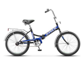 "410 chernyy siniy 350x270 - Велосипед Стелс (Stels) Pilot-410 20"" Z011, Сталь  , р. 13,5"", цвет   Чёрный/синий"