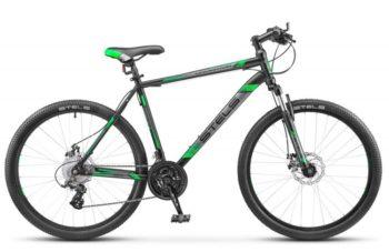 "700 md chernyy zelenyy 1 350x227 - Велосипед Стелс (Stels) Navigator-700 MD 27.5"" F010, Сталь, р 17,5, цвет Чёрный/зелёный"