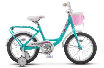 "Flyte Lady 16 Z011 Turquoise 350x228 - Велосипед Стелс (Stels)Flyte 16"" Z011, Сталь , р 11"", цвет   Мятный"