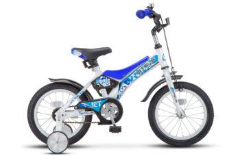 "Jet 14 Z010 white blue 350x228 - Велосипед Стелс (Stels)Jet 14"" Z010, Сталь , р 8,5"", цвет   Белый/синий"