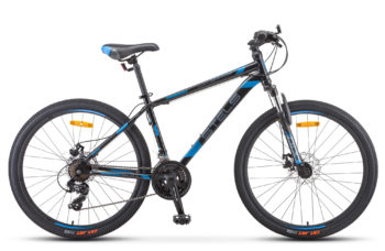 "Navigator 500 MD 26 F010 gray blue 350x228 - Велосипед Стелс (Stels) Navigator-500 MD 26"" F010 , Сталь, р 20"", цвет Чёрный/синий"