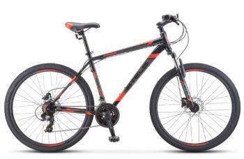 "Navigator 700 D 27.5 F010 black red 350x228 - Велосипед Стелс (Stels) Navigator-700 D 27.5"" F010, Сталь, р 21, цвет  Чёрный/красный"