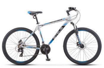 "Navigator 700 D 27.5 F010 silver blue 350x228 - Велосипед Стелс (Stels) Navigator-700 D 27.5"" F010, Сталь, р 21, цвет  Серебристый/синий"
