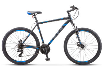 "Navigator 700 MD 27.5 F010 black blue 350x228 - Велосипед Стелс (Stels) Navigator-700 MD 27.5"" F010, Сталь, р 21, цвет Чёрный/синий"