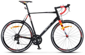 """XT280 28 V010 black red 350x228 - Велосипед Стелс (Stels) XT280 28"""" V010  700С , Алюминий X6, р. 24"""", цвет  Чёрный/красный"""