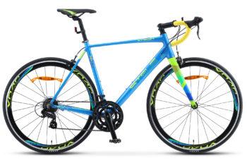 "XT280 28 V010 blue yellow 350x228 - Велосипед Стелс (Stels) XT280 28"" V010  700С , Алюминий X6, р. 20"", цвет  Синий/жёлтый"