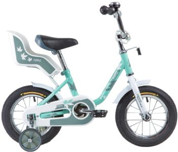 """133870 2 350x299 - Велосипед NOVATRACK 12"""" MAPLE, серо-зелёный, полная защита цепи, тормоз нож, крылья цвет, сидение дл, рама - 8,5"""""""