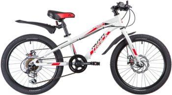 "133970 2 350x195 - Велосипед NOVATRACK 20"", PRIME 6,D, белый, алюм,, 6-скор, TY21/TS38/SG-6SI, диск,тормоз ARTEK, рама - 10"""