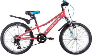 "133981 2 350x212 - Велосипед NOVATRACK 20"", VALIANT 6,V, коралловый, сталь, 6-скор, TY21/TS38/SG-6SI, V-brake, рама - 9,5"""