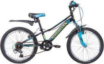"133982 2 350x216 - Велосипед NOVATRACK 20"", VALIANT 6,V, чёрный, сталь, 6-скор, TY21/TS38/SG-6SI, V-brake, рама - 9,5"""