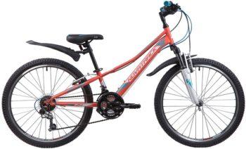 "133985 2 350x212 - Велосипед NOVATRACK 24"" VALIANT 18,V, сталь,рама 10"", коралловый, 18-скор, TY21/TS38/SG-6SI, V-brake, рама - 10"""