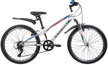 "134053 2 350x211 - Велосипед NOVATRACK 24"" EXTREME 6,V, сталь,рама 10"" белый, 6-скор, TY21/TS38/SG-6SI, V-brake, рама - 10"""