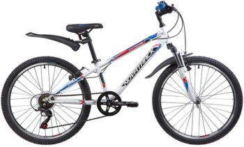 "134054 2 350x211 - Велосипед NOVATRACK 24"" EXTREME 6,V, сталь,рама 12"", белый, 6-скор, TY21/TS38/SG-6SI, V-brake, рама - 12"""