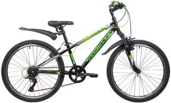 "134056 2 350x211 - Велосипед NOVATRACK 24"" EXTREME 6,V, сталь,рама 12"" чёрный, 6-скор, TY21/TS38/SG-6SI, V-brake, рама - 12"""