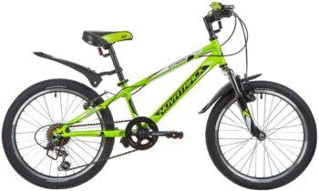 "134057 2 350x210 - Велосипед NOVATRACK 20"" EXTREME 6,V, зелёный, сталь, 6-скор, TY21/TS38/SG-6SI, V-brake, рама - 10"""