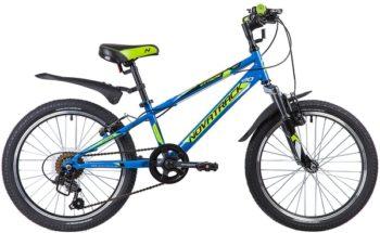 "134058 2 350x215 - Велосипед NOVATRACK 20"" EXTREME 6,V, синий, сталь, 6-скор, TY21/TS38/SG-6SI, V-brake, рама - 10"""