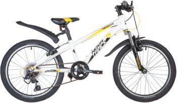 "134087 2 350x204 - Велосипед NOVATRACK 20"" POINTER 6,V, белый, сталь, 6-скор, Microshift TS38/Shimano, V-brake, рама - 10"""