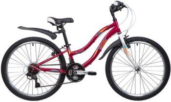 """134104 2 350x210 - Велосипед NOVATRACK 24"""" LADY 18,V, сталь,рама 10"""" красный, 18-скор, TZ30/TY21/RS35/SG-6SI, V-brake, рама - 10"""""""