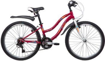 """134105 2 350x205 - Велосипед NOVATRACK 24"""" LADY 18,V, сталь,рама 12"""" красный, 18-скор, TZ30/TY21/RS35/SG-6SI, V-brake, рама - 12"""""""