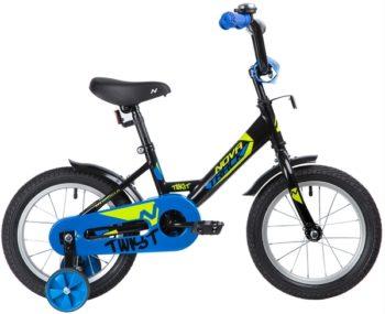 "139621 2 350x285 - Велосипед NOVATRACK 14"" TWIST черный, тормоз нож, крылья корот, полная защ,цепи, рама - 9"""