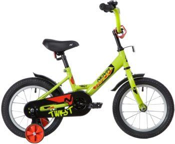 "139622 2 350x289 - Велосипед NOVATRACK 14"" TWIST зеленый, тормоз нож, крылья корот, полная защ,цепи, рама - 9"""