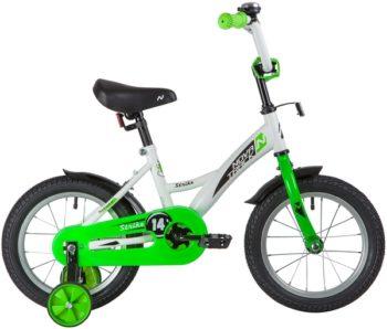 "139625 2 350x298 - Велосипед NOVATRACK 14"" STRIKE белый-зелёный, тормоз нож, крылья корот, полная защ,цепи, рама - 9"""