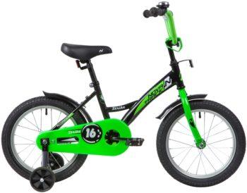 """139649 2 350x274 - Велосипед NOVATRACK 16"""" STRIKE черный-зелёный, тормоз нож, крылья корот, полная защита цепи, рама - 10,5"""""""