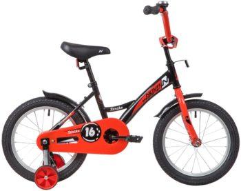 """139650 2 350x277 - Велосипед NOVATRACK 16"""" STRIKE черный-красный, тормоз нож, крылья корот, полная защита цепи, рама - 10,5"""""""