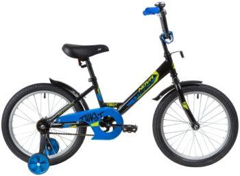 "139672 2 350x257 - Велосипед NOVATRACK 18"" TWIST черный, тормоз нож, крылья корот, защита А-тип, рама - 11,5"""
