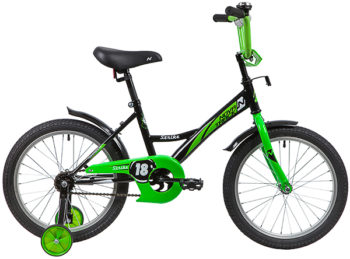 "139684 2 350x259 - Велосипед NOVATRACK 18"" STRIKE черный-зелёный, тормоз нож, крылья корот, защита А-тип, рама - 11,5"""