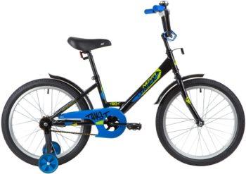 "139689 2 350x247 - Велосипед NOVATRACK 20"" TWIST черный, тормоз нож, крылья корот, защита А-тип, рама - 12"""