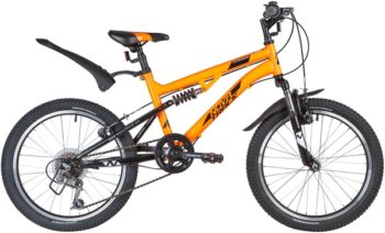 "139730 2 350x212 - Велосипед NOVATRACK 20"" TITANIUM 6,V, оранжевый, сталь, 6 скор,, Power, V-Brake, рама - 15"""