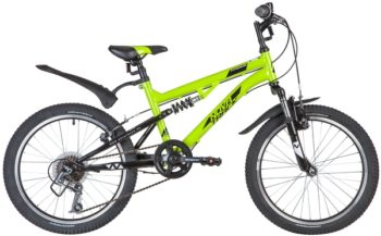 "139731 2 350x217 - Велосипед NOVATRACK 20"" TITANIUM 6,V, салатовый, сталь, 6 скор,, Power, V-Brake, рама - 15"""