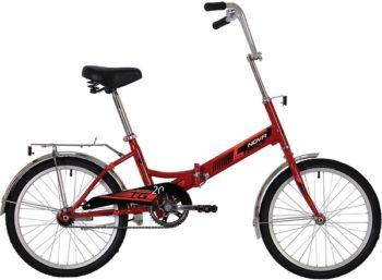 """139739 2 350x257 - Велосипед NOVATRACK 20"""" складной, TG-20 classic 1,0, красный, тормоз нож, AL обода, багажник, рама - 14"""""""