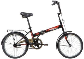 """139791 2 350x246 - Велосипед NOVATRACK 20"""" TG-20 classic 2,1 складной, черный, передний тормоз V-Brake задний ножной, багажник, кр, рама - 14"""""""