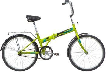 """139794 2 350x237 - Велосипед NOVATRACK 24"""" TG-24 classic 1,1 складной, зеленый, тормоз V-Brake задний ножной, багажник, крылья, рама - 14,5"""""""