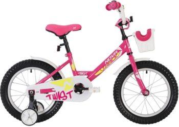 """140635 2 350x250 - Велосипед NOVATRACK 12"""" TWIST розовый, тормоз нож,, корот,крылья, полная защита цепи, перед,корзина, рама - 8,5"""""""