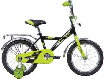 """140645 2 350x264 - Велосипед NOVATRACK 12"""" ASTRA чёрный, тормоз нож, крылья и багажник чёрн, полная защита цепи, рама - 8,5"""""""
