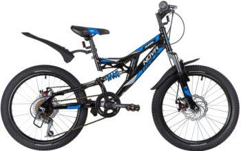 "140670 2 350x219 - Велосипед NOVATRACK 20"" SHARK 6,D чёрный, сталь, 6-скор, Microshift/Power, диск,тормоз STG, рама - 12"""