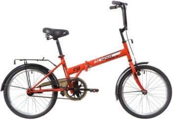 """140674 2 350x243 - Велосипед NOVATRACK 20"""" TG-20 classic 2,1 складной, красный, тормоз 1 руч, и нож,,двойной обод,, рама - 14"""""""