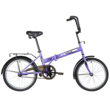 """140676 2 350x350 - Велосипед NOVATRACK 20"""" TG-20 classic 1,1, складной, фиолетовый, тормоз нож,двойной обод,сид,и руль комфор, рама - 14"""""""