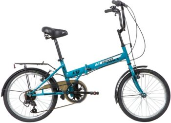 "140677 2 350x252 - Велосипед NOVATRACK 20"" TG-20 classic 3,1 складной, синий, 6 скор,Shimano TY-21,тормоз V-brake,сиден, багажник, рама - 14"""