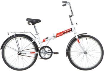 """140685 2 350x240 - Велосипед NOVATRACK 24"""" TG-24 classic 1,1 складной, белый, TG,тормоз нож, двойной обод, багажник, сидение комфорт, рама - 14,5"""""""