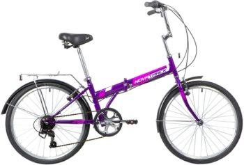 "140686 2 350x237 - Велосипед NOVATRACK 24"" TG-24 classic 3,1 складной, фиолет,, 6скор, Shimano TY-21, тормоз V-brake,,сидение комфорт, рама - 14,5"""