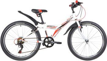 "140688 2 350x201 - Велосипед NOVATRACK 24"" RACER 6,V сталь,рама 12"" ,белый, 6-скор, TY21/TS38/SG-6SI, V-brake, рама - 12"""