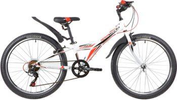 "140690 2 350x197 - Велосипед NOVATRACK 24"" RACER 6,V сталь,рама 10"" ,белый, 6-скор, TY21/TS38/SG-6SI, V-brake, рама - 10"""