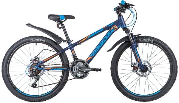 "140709 2 - Велосипед NOVATRACK 24"" LUMEN 18,D алюм,рама 13"", синий, 18-скор, TY21/TS38/SG-6SI, диск,торм,STG, рама - 13"""