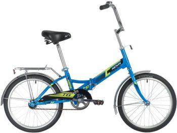 "140919 2 350x263 - Велосипед NOVATRACK 20"" складной, TG-20 classic 1,0, синий, тормоз нож , двойной обод, багажник, рама - 14"""